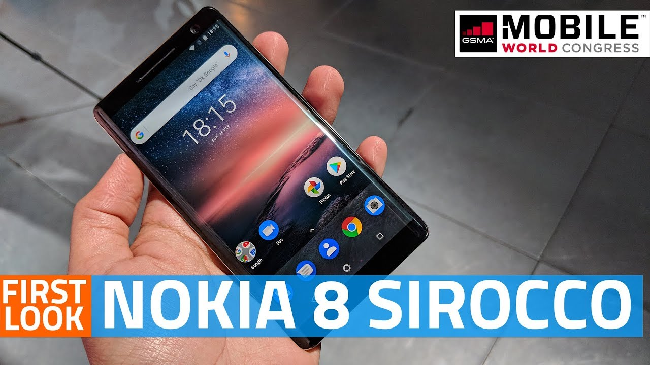 Nokia 8 Sirocco First Look   Camera, Specs, Features, and More #MWC18