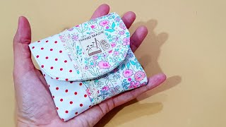 How to sew a small pouch   ❤小钱包制作❤