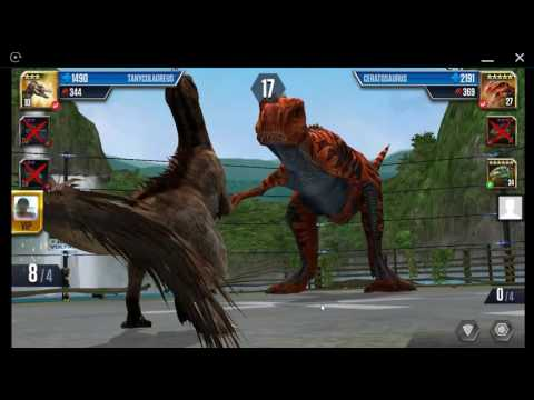 Jurassic World: The Game - Player Duel Battle 701 - TANYCOLAGREUS And Indominus Rex!
