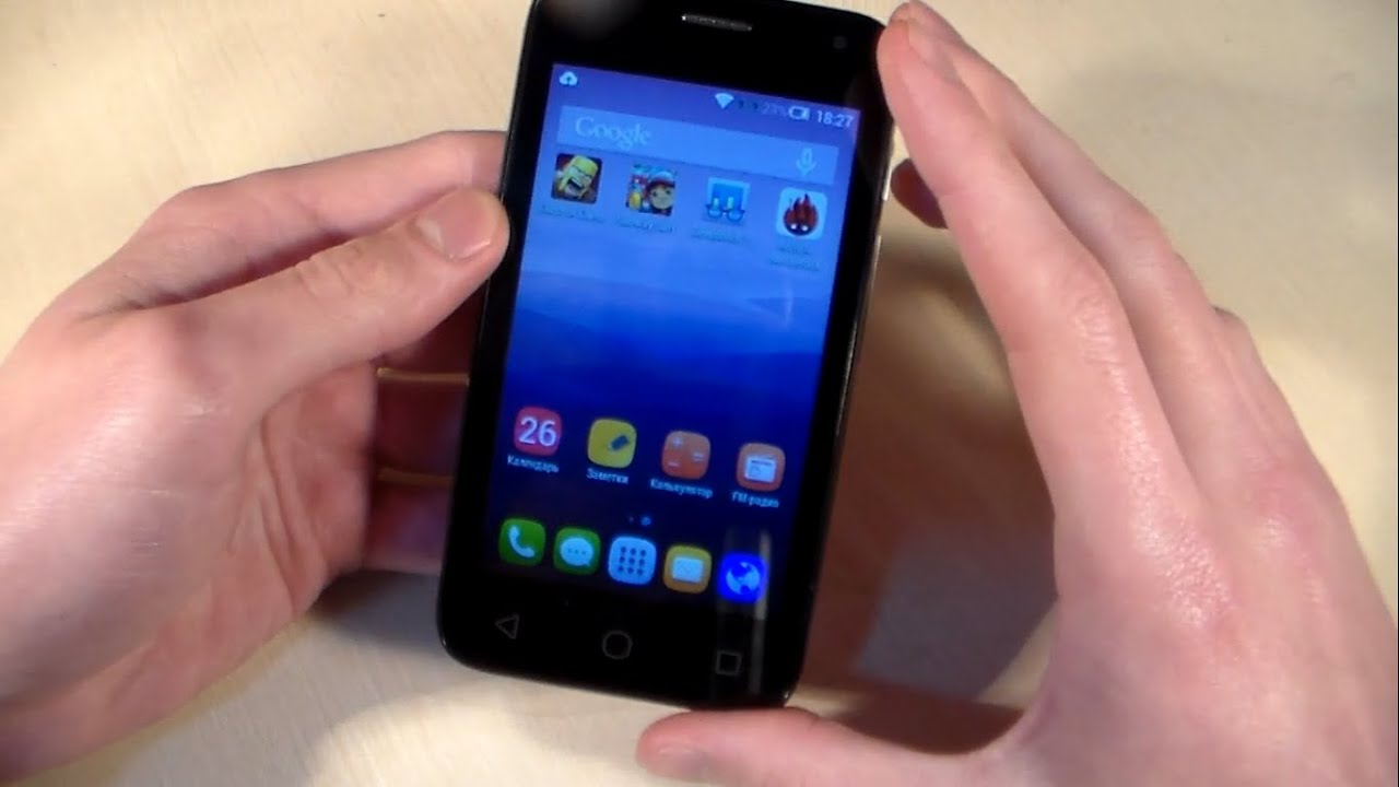 Обзор Alcatel One Touch Pixi First (4024D) - YouTube