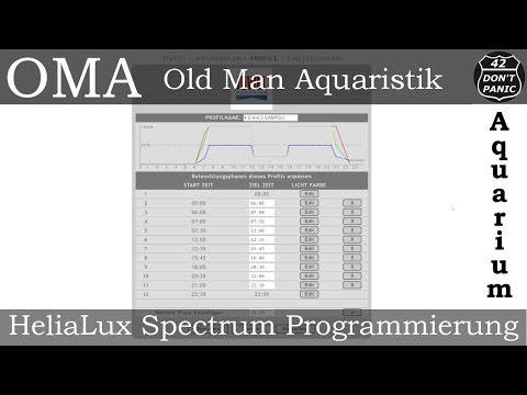 Juwel HeliaLux Spectrum Programmierung
