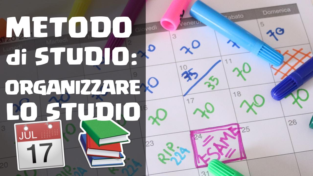 Come Personalizzare Lo Studio : Metodo di studio come organizzare lo youtube