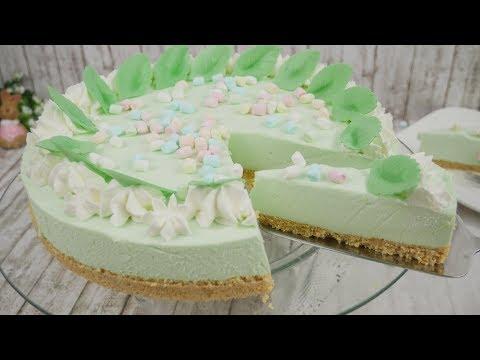 Philadelphia Waldmeister Torte ohne Backen / No Bake Cake / No Bake Cheesecake