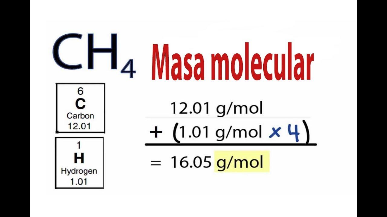 Masa molecular de un compuesto - YouTube