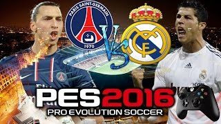 Pro Evolution Soccer 2016 Gameplay PC  PSG vs Real Marid Camera Live Broadcast [HD720p]