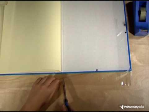 C mo forrar una carpeta youtube - Como forrar un armario con tela ...