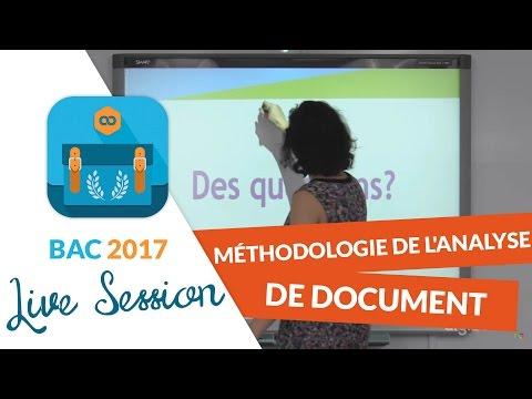 Bac 2017 - Live Méthodologie Histoire Géo : Analyse de document