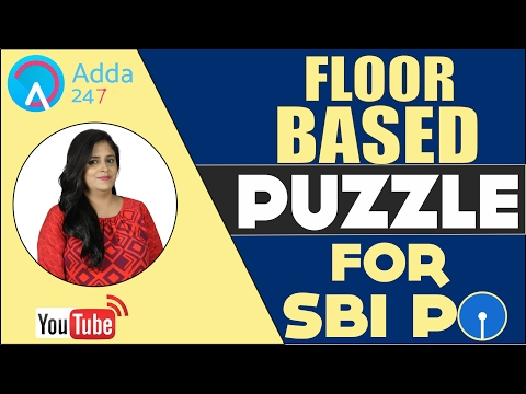 FLOOR BASED PUZZLE REASONING FOR (SBI PO 2017)