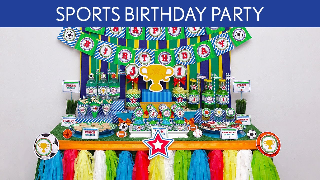 Sports Birthday Party Ideas B59 YouTube