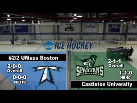 UMass Boston Men's Hockey vs. Castleton University (11/11/16) Webcast