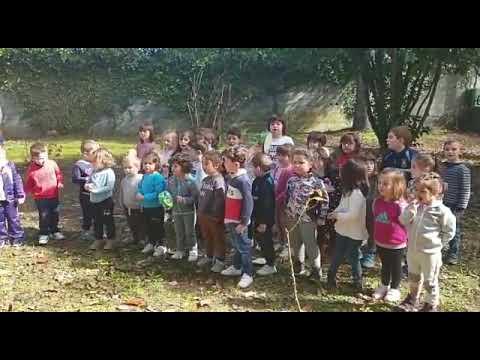 Os nenos do CEIP O Foxo da Estrada homenaxean a Rosalía