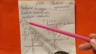 484 Алгебра 9 класс. Неравенства с двумя переменными
