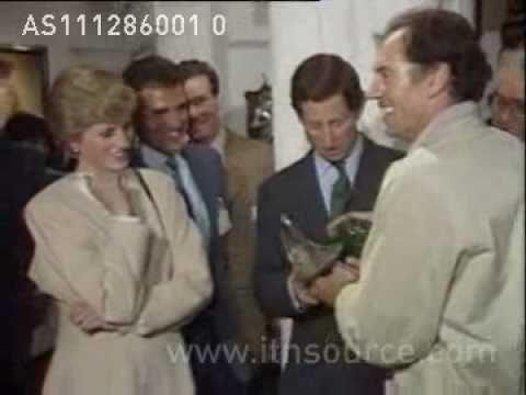 Princess Diana breaks bottle over Charle's head!