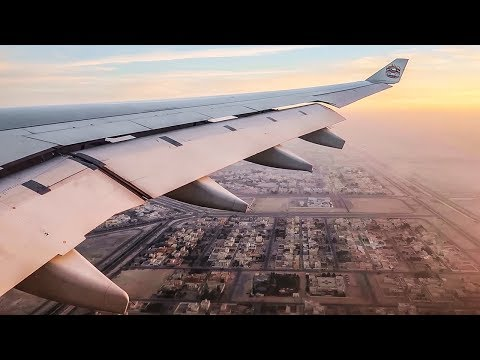 Etihad Airways Airbus A330-300 SUPER SMOOTH SUNRISE LANDING at Abu Dhabi Airport (AUH)