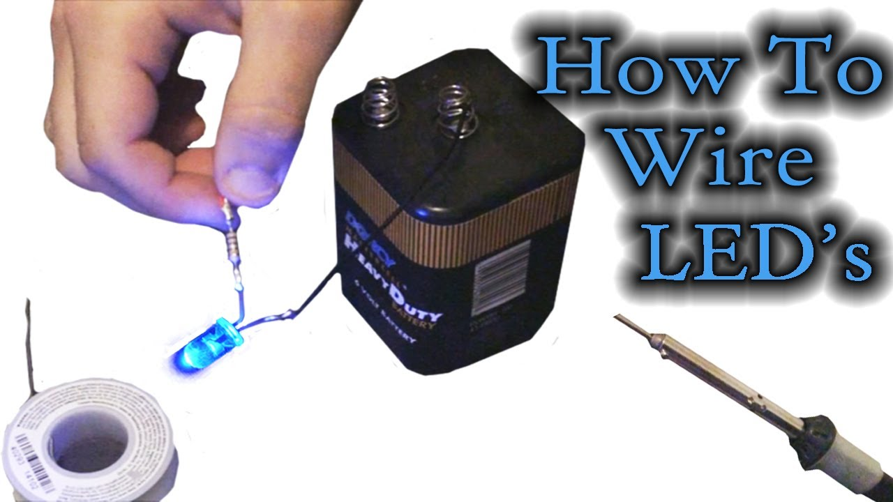 How To Wire Leds Youtube And Connect In Series Parallel Electronic Circuit Projects