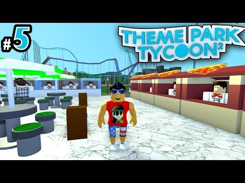 Theme Park Tycoon! Ep. 5: Food Court Area!! | Roblox