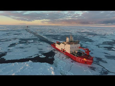 China's Icebreakers Sail Through Ice On Antarctic Expedition