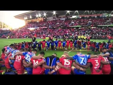 Rugby League World Cup 4 Nov 2017 Samoa vs Tonga War Unity Prayer Beautiful