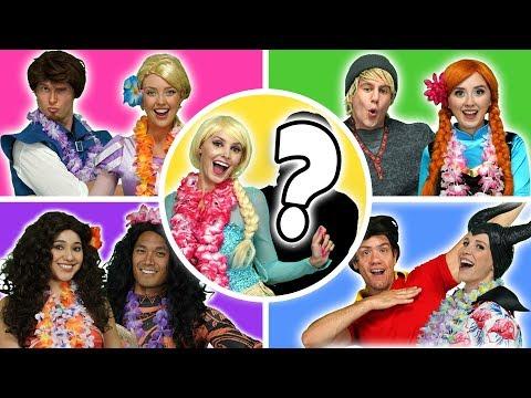 DISNEY PRINCESS SUMMER DANCE PARTY. Rapunzel & Flynn, Anna & Kristoff, Moana & Maui, Elsa & Jack?