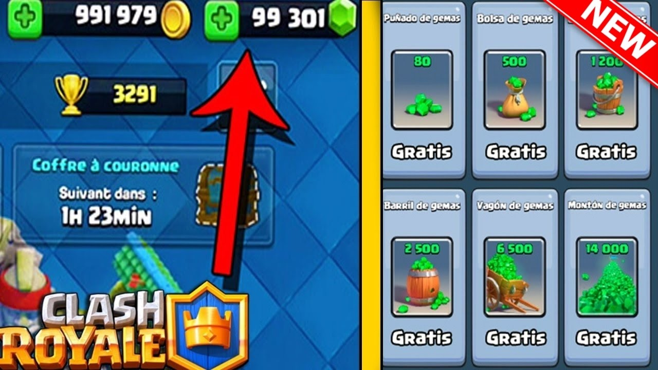 como CONSEGUIR GEMAS GRATIS CLASH ROYALE sin HACKS ni APPS 2017 MEJOR  METODO (ANDROID Y IOS) NO ROOT -