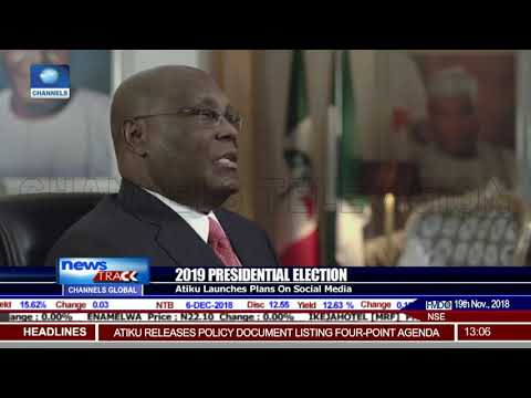 Atiku Launches 2019 Pres'l Election Plan On Social Media