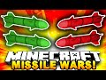 Minecraft RED VS GREEN MISSILE WARS! #3 (TNT Battle!) w/ The Pack