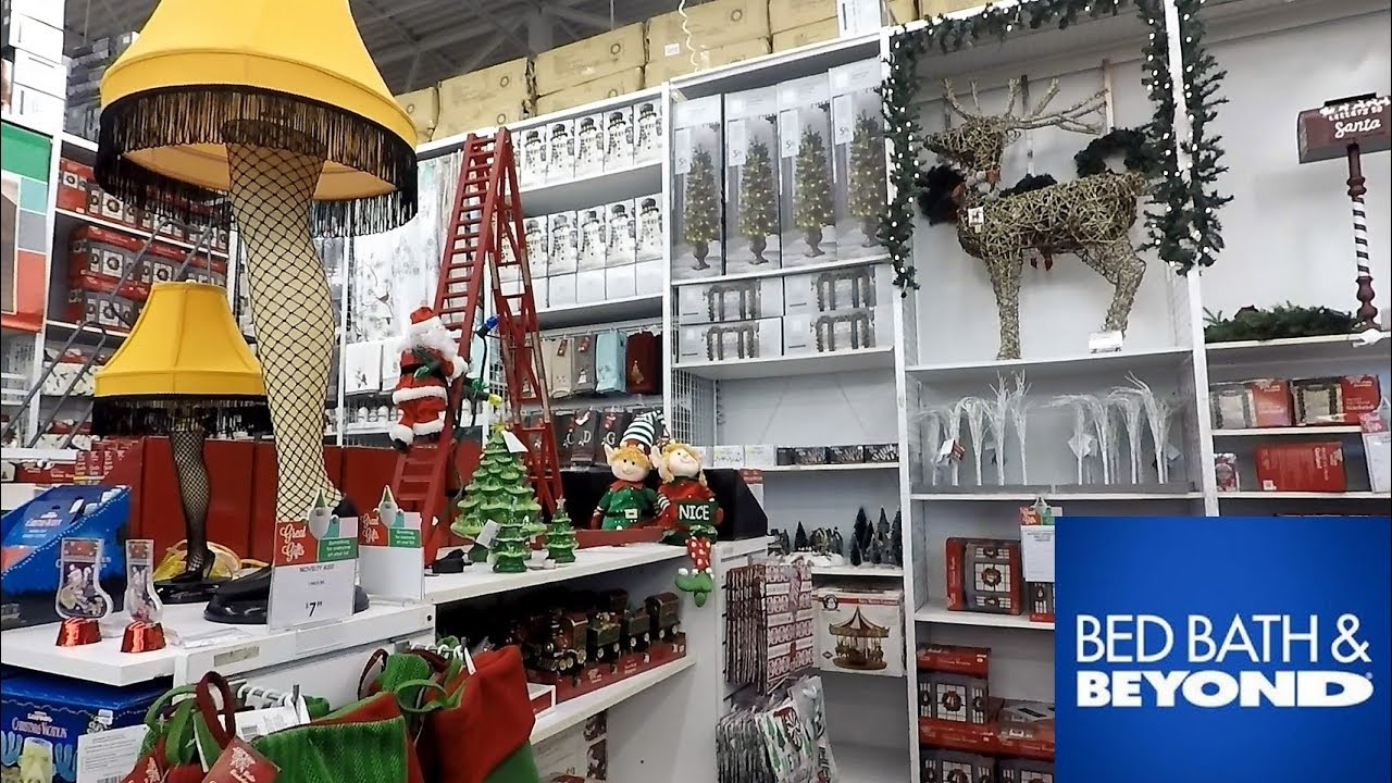 Bed Bath And Beyond Christmas Trees Decorations Ornaments Home Decor Shopping Youtube