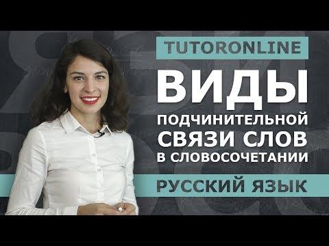 Русский язык| Виды подчинительной связи слов в словосочетании