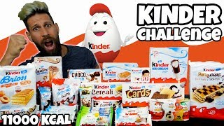 KINDER CHALLENGE (11000 Kcal) - Cheat day - MAN VS FOOD