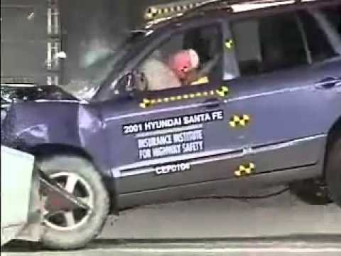 voiture crash test crash test 2001 2006 hyundai santa fe iihs youtube. Black Bedroom Furniture Sets. Home Design Ideas