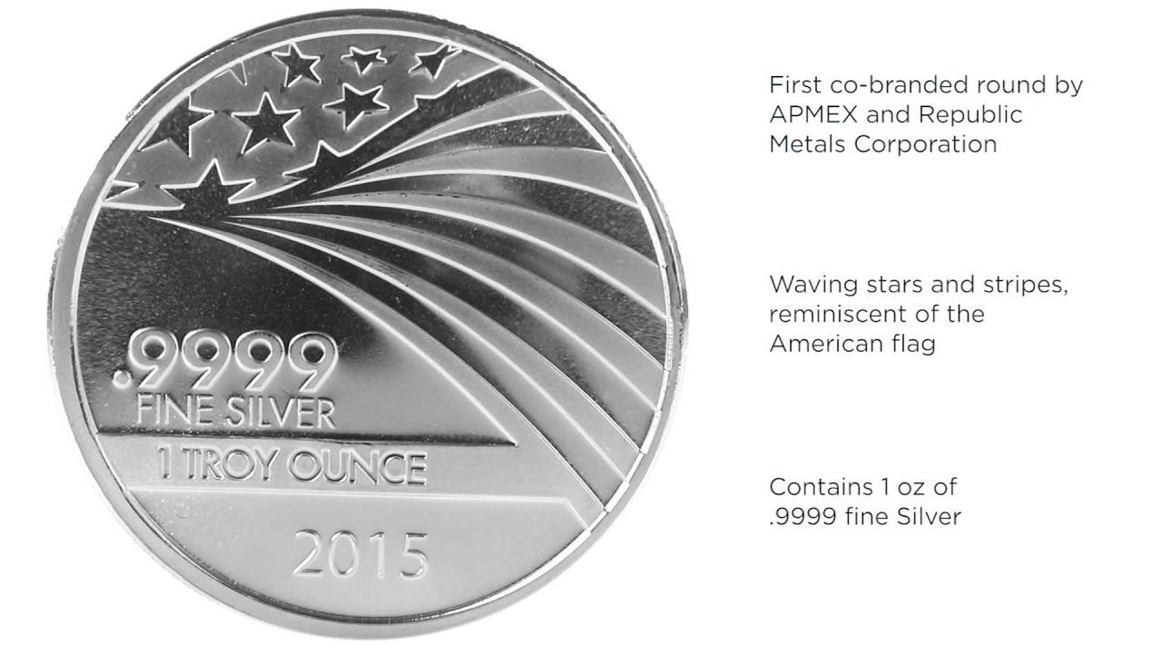 Apmex Silver 1 Oz Silver Round Apmex Rmc Co Branded