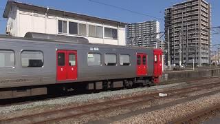 813系(6両) 普通福間行 鳥栖駅発車