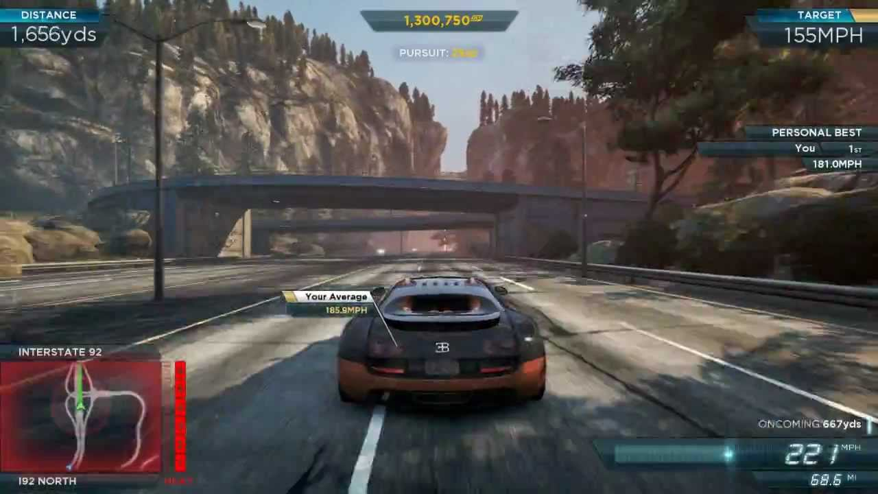 nfs most wanted 2012 old world record needle point bugatti veyron ss. Black Bedroom Furniture Sets. Home Design Ideas