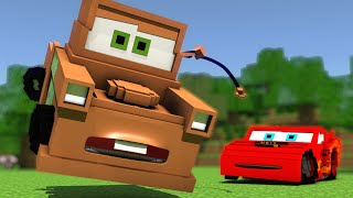 """Disney Pixar's Cars in Minecraft"" - Animation"
