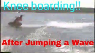 Knee boarding like a pro!! (Behind a boat)
