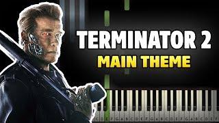 Terminator 2 - Main Theme Piano Tutorial (Sheet Music + midi)