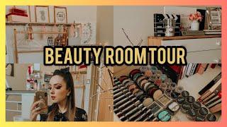 BEAUTY ROOM TOUR + COLECCION DE MAQUILLAJE | MONILLACA