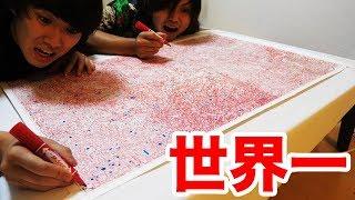 【丸2日】世界一難しい迷路を赤ペンだけで解いたら芸術すぎた!!