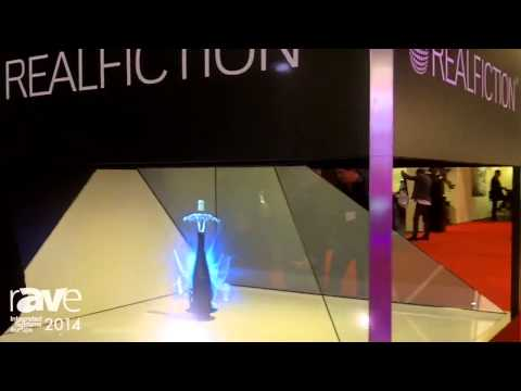 ISE 2014: Clas Dyrholm of Realfiction Explains Its Holographic Technology to Gary Kayye