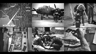 Photo Mapping Recon Mission to Myitkyna, Burma in WW2 (1944-Restored)