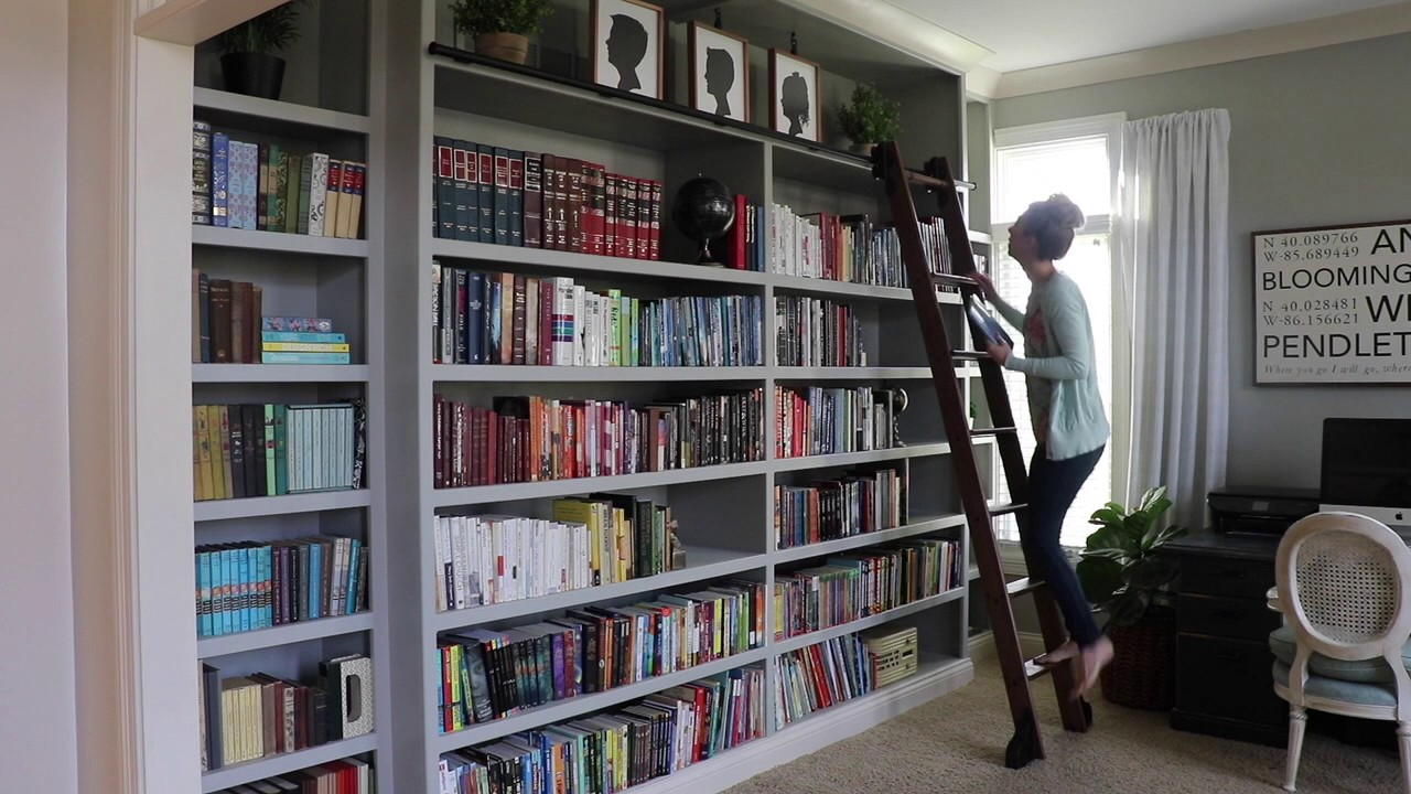 Rolling Library Ladder With Custom Service Hardware