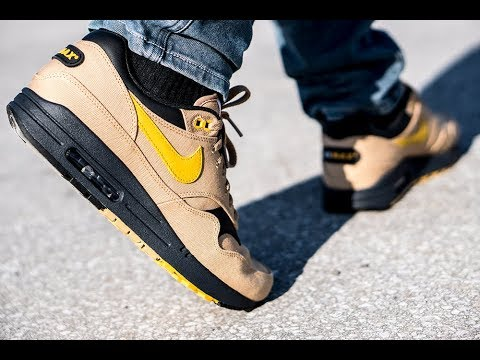 reputable site e1e98 fbdfe On Feet  Nike Air Max 1 Premium Elemental Gold   99kicks