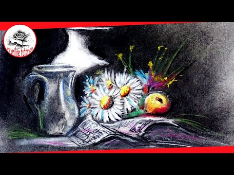 How to Paint Still Life With Charcoal and Soft Pastels Step by Step: Drawing and Painting Techniques