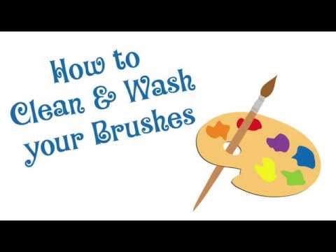 How to Clean your Oil Brushes