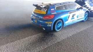 RC Car Burnout! Exploding tire!