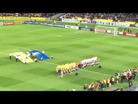 Peter Hitchener - Soccer Australia V Japan anthem