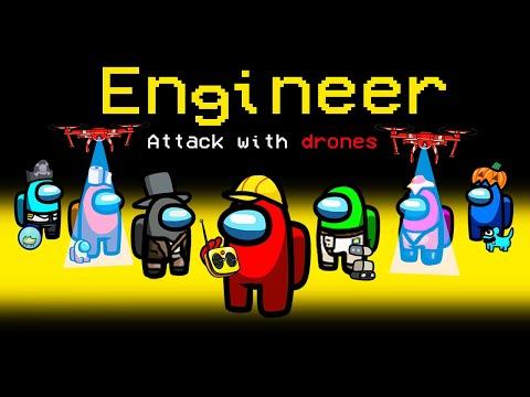 ENGINEER ROLE Mod in Among Us (broken)