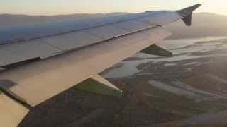 S7 Airlines A320-214 flight S7568 approach to Khabarovsk Novy