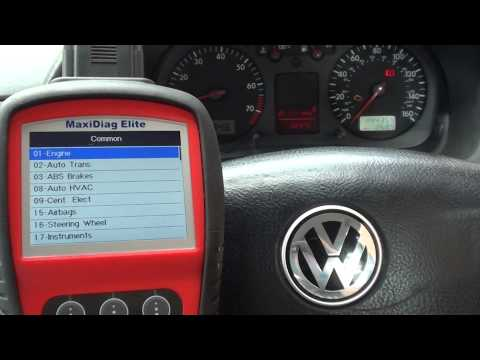 Autel MD802 Diagnose Check Engine Light VW Golf P0420 16804 Trouble Code