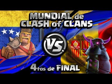 ¡VENEZUELA vs ANDORRA EN DIRECTO! | 4tos de FINAL DEL MUNDIAL de CLASH OF CLANS con Rogersslike